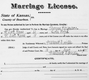 Ferguson_Pope Marriage License