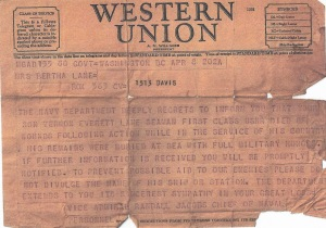 Lane, Vernon E, Western Union Telegraph