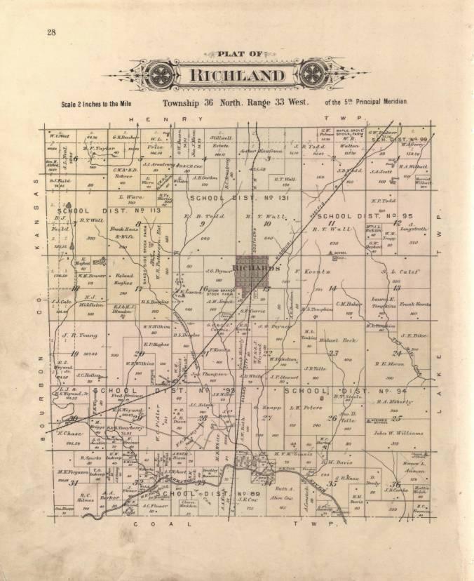 Platbook Vernon County, 1903