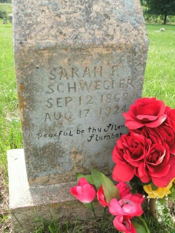Ridenhour, Sarah Frances, headstone