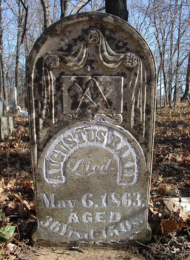 Baker, Augustus, Headstone