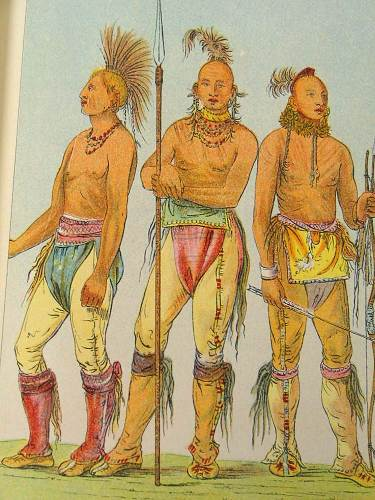 Osage Sioux Indian Warriors